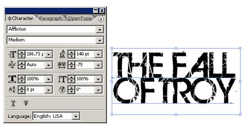 header font stuff