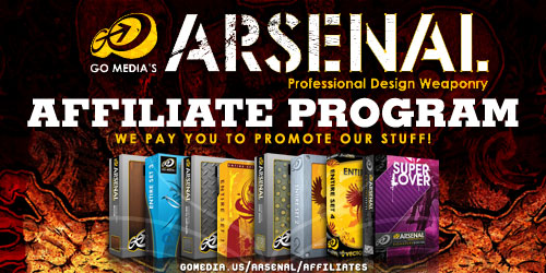 Go Media's Arsenal - we pay you to promote our products!