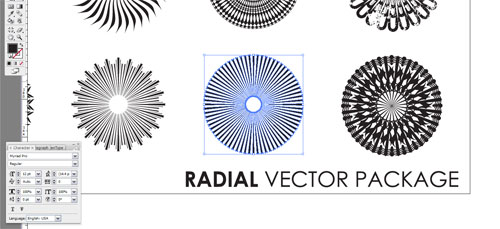Select which radial vector you want to use