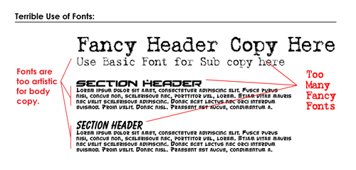 rules for font use