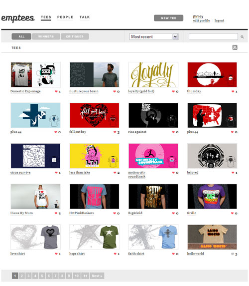 Great site for Shirt Design Inspiration