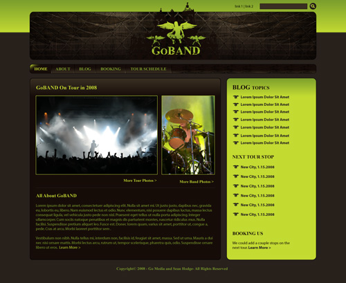 Create a Killer band site in Drupal – Part 1 – Design