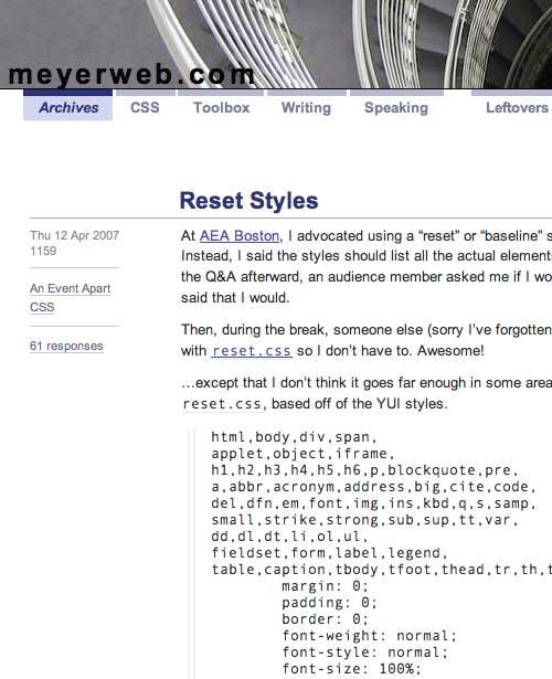 CSS Reset Styles