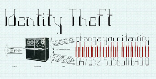Identity Theft - new font available from Go Media's Arsenal, designed by Katie Major