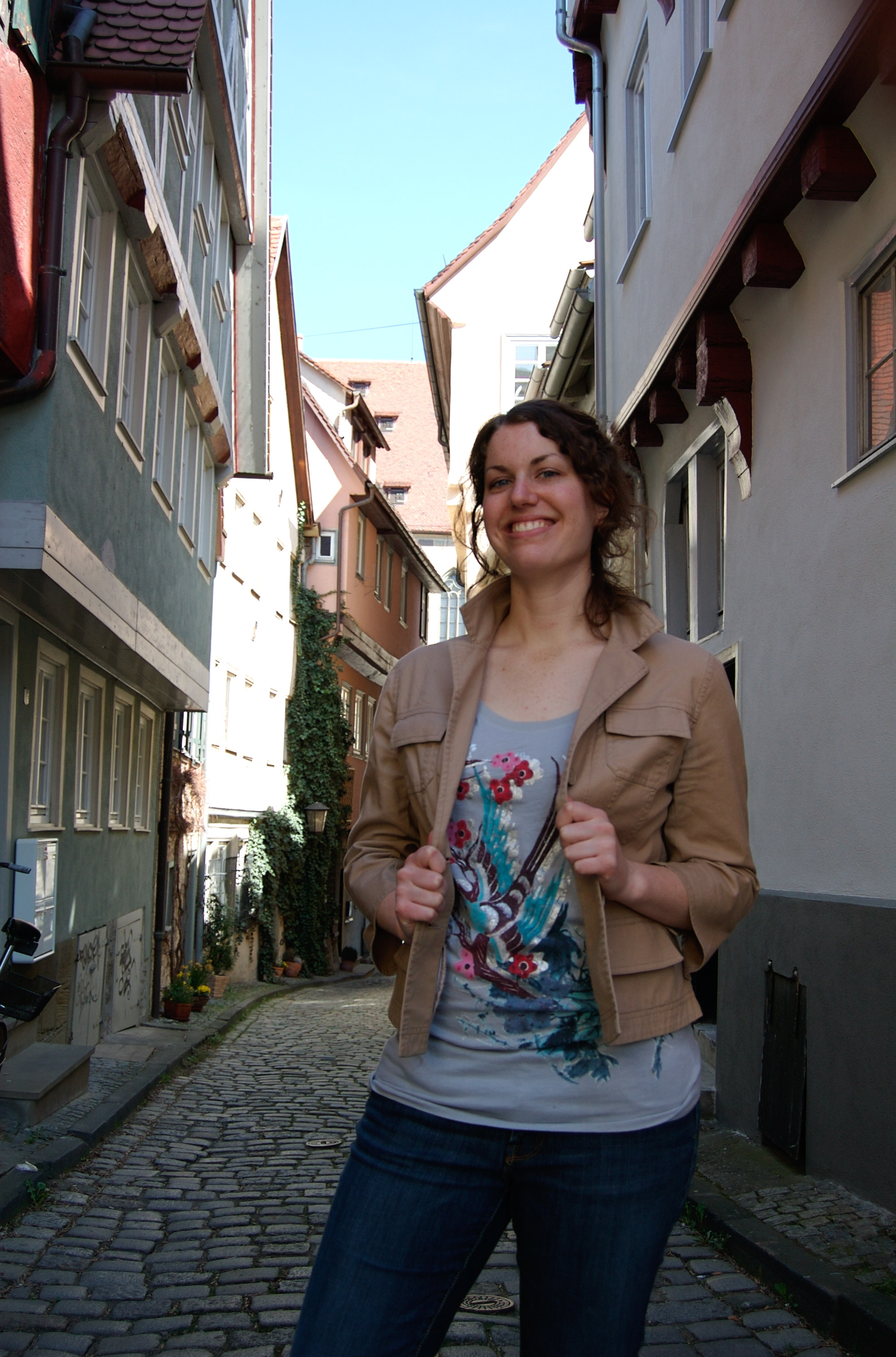 Grabbing my jacket in southern Germany, where I studied for 4 months while enrolled at the Cleveland Institute of Art.