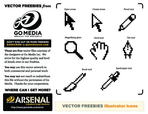 Vector Freebie: Illustrator Icons