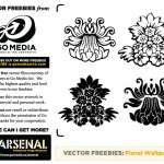 Vector Freebie: Floral Wallpaper