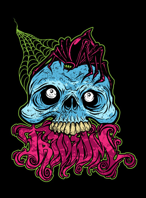 Trivium shirt design by Dave Tevenal