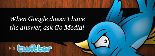 Get Design help via Twitter from Go Media