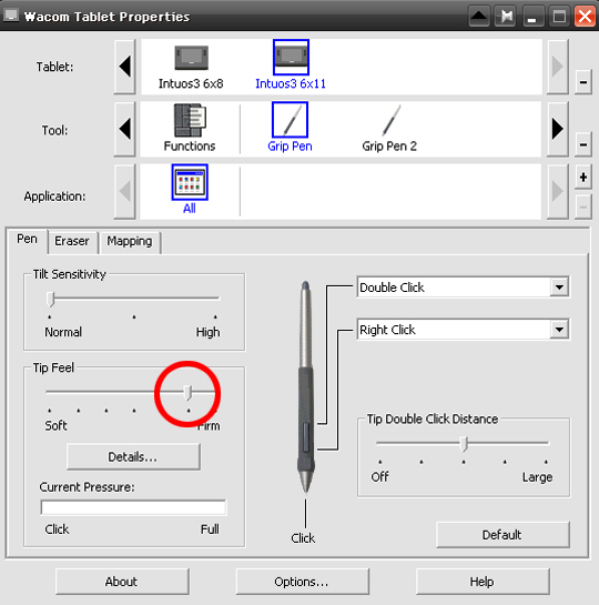 Wacom Tablet Properties