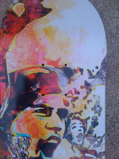 go media watercolors on skate decks