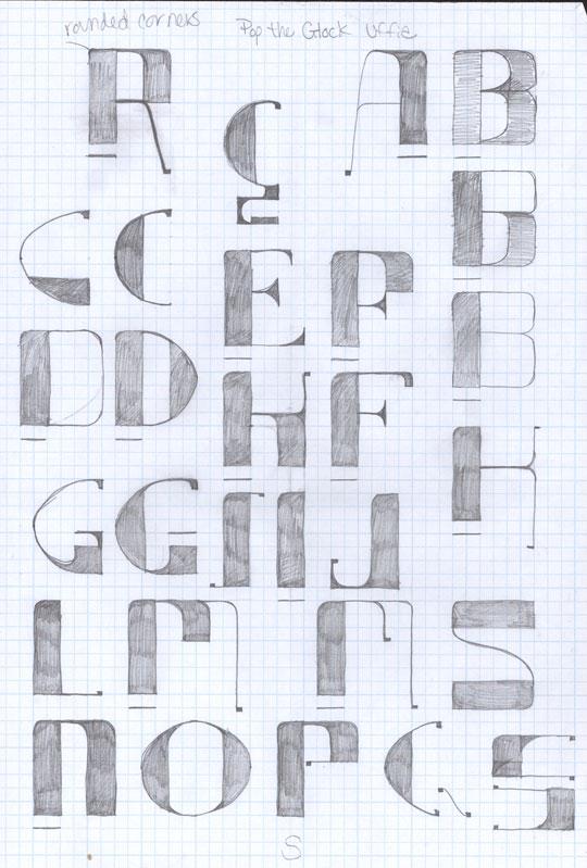 How To Design a Font: {Part2} Draw Up A Storm! - Go Media