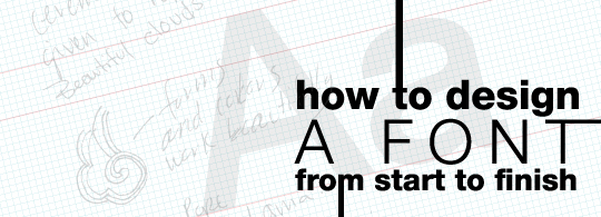 How to Design a Font: {Part 4} Finishing Touches