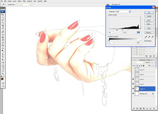 how to draw a hand 6