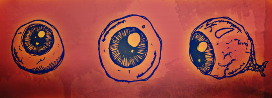 Hand Drawn Vector Eyeball Freebie