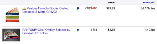 ebay pantone book