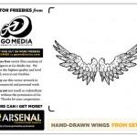 Vector Freebie: Hand Drawn Wings