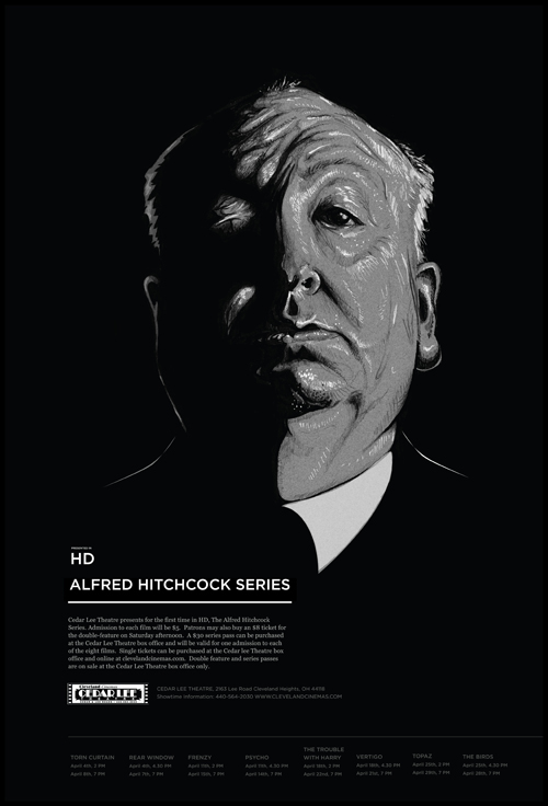 Hitchcock Poster by Chris Comella