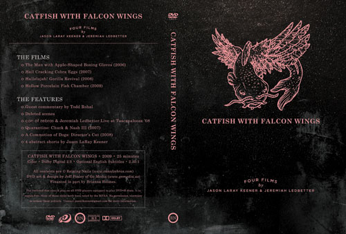 Catfish with Falcon wings DVD art by Jeff Finley