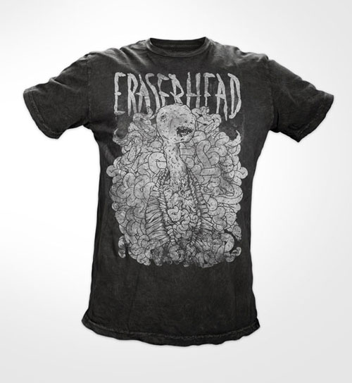 Eraserhead mocked up on Bare Apparel tees