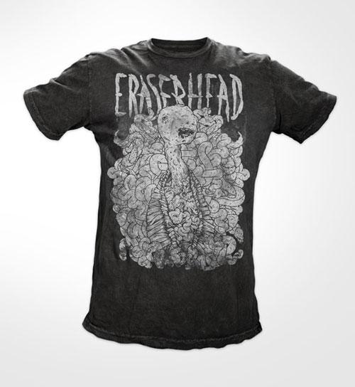 Eraserhead mocked up on Bare Apparel tees