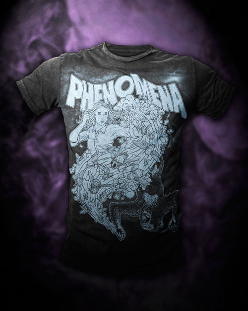 Phenomena shirt mocked up on Bare Apparel