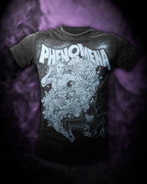 Phenomena shirt mocked up on Bare Apparel