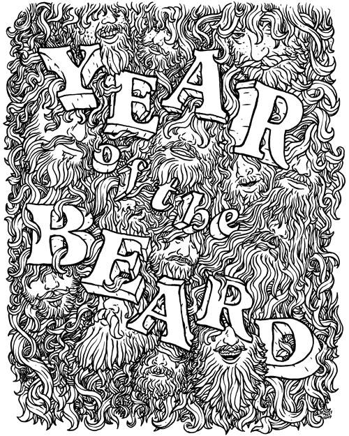 Year of the Beard art by Jeff Finley