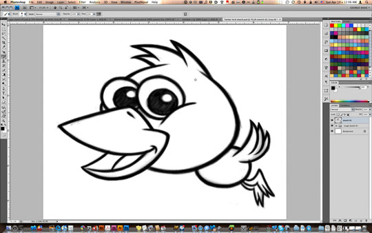 Line Art Using Illustrator : Create a vector art twitter bird character icon in adobe
