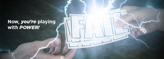Behold its Greatness: The NEW Fail Sticker has Arrived