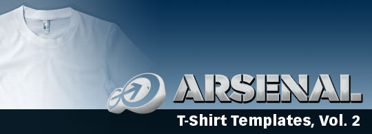 Arsenal: T-Shirt Templates, Vol. 2