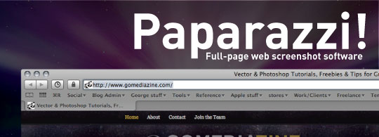 Paparazzi!: Full Web Page Screenshots Utility (OS X)