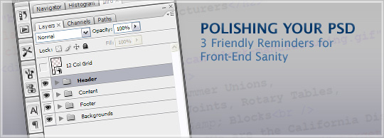 Polishing Your PSD: 3 Friendly Reminders for Front-End Sanity