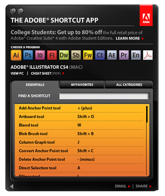 adobe-shortcuts-app-screenshot