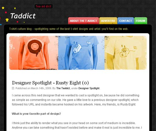 Solicit T-Shirt Bloggers For Interviews Like The T Addict