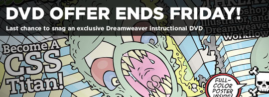 Ten Ton Dreamweaver DVD offer ends Friday