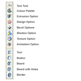 Xara 3D toolbar