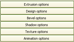 Xara 3D tool menu options