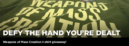 Defy The Hand You're Dealt: WMC T-Shirt Giveaway
