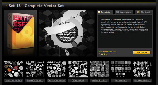 grab vector set 18