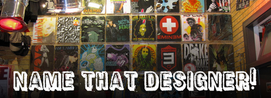 Hot Topic T-Shirt Wall Game: Name That Designer!