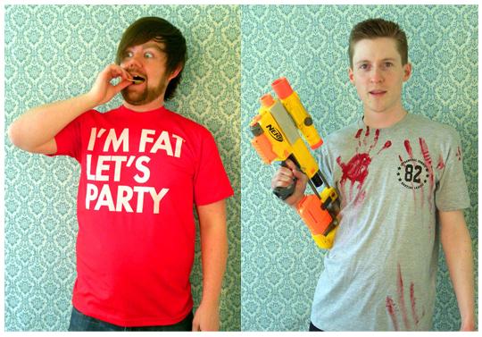 David Murray - SEIBEI - I'm fat let's party - Zombie hunter shirt