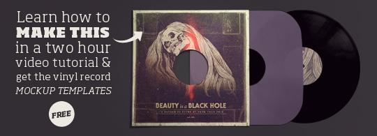 Grab Wacom Illustration Video Tutorial, get Vinyl Record Mockup Templates Free