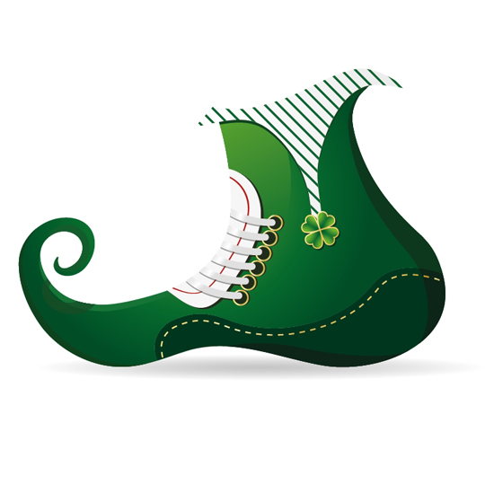 leprechaun shoe in adobe illustrator