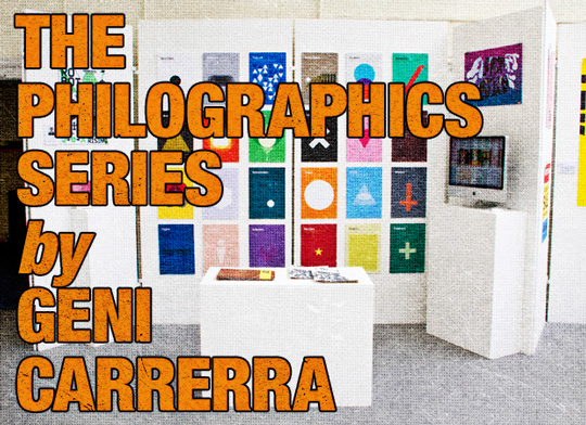 The Philographics poster series of Genis Carreras