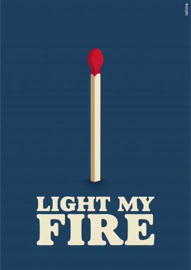 letra de la cancion light my fire: