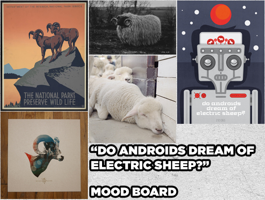 SAoS - Do androids dream of electric sheep? - Mood board
