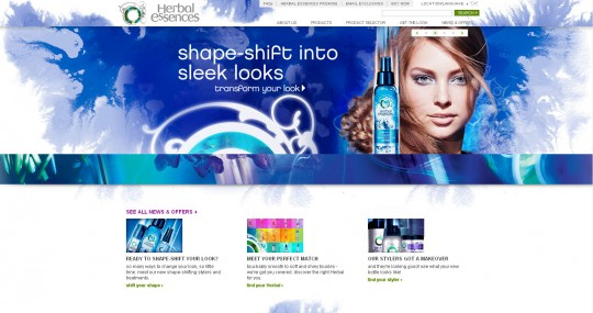 Herbal Essences website