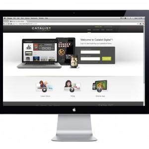 Findaway Catalist Digital Website Design - Homepage Mockup