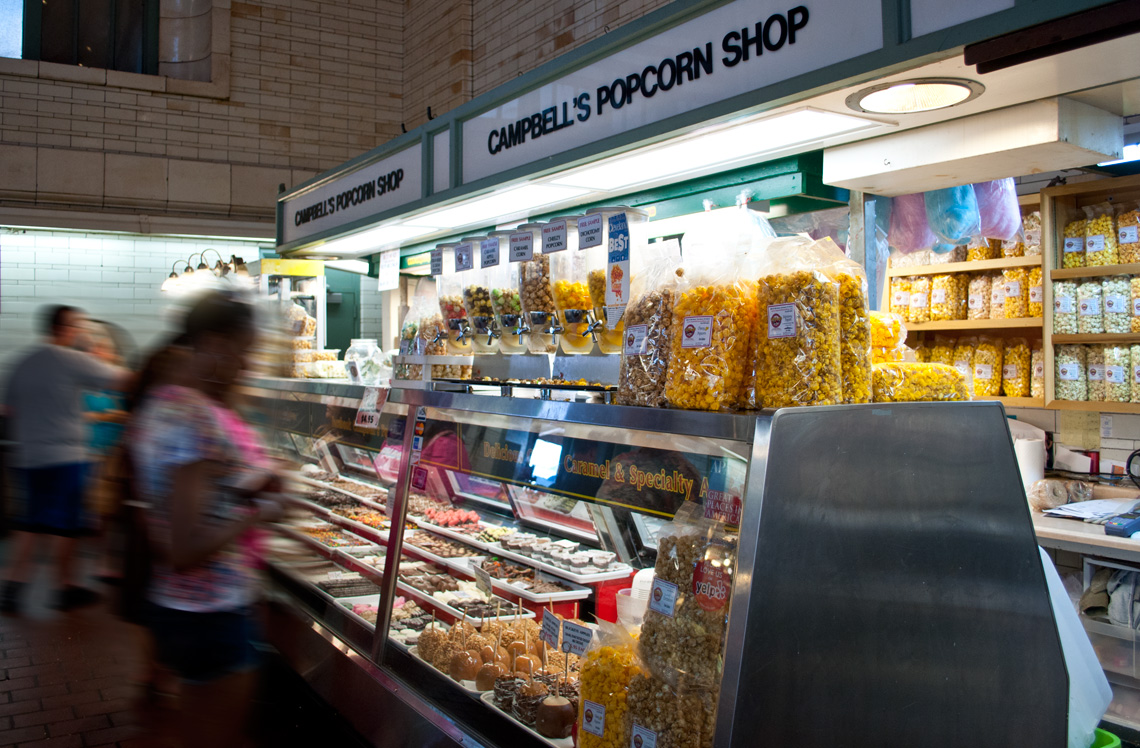 Campbell's Ohio City Sweets Factory stand in West Side Market